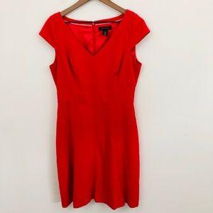 White House Black Market Red V-Neck Dress